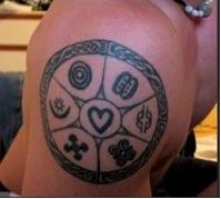Adinkra tattoo
