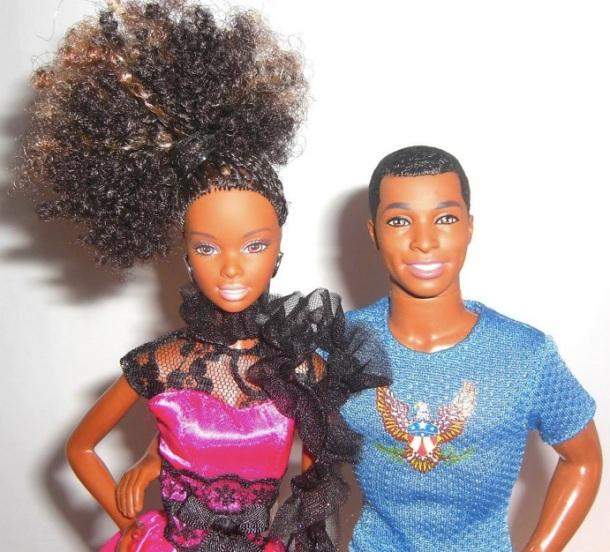 Poupées Ken et barbie noirs