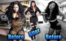 NiCki Minaj avant/après la chirurgie et Nicki Minaj jeune, adolescente