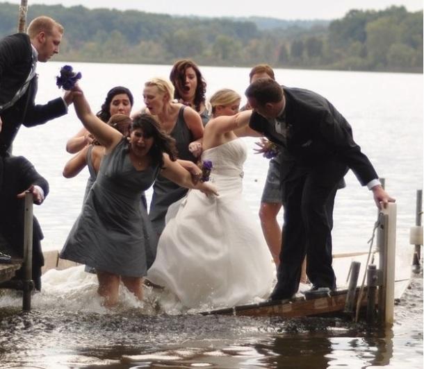 Un mariage dans l'eau