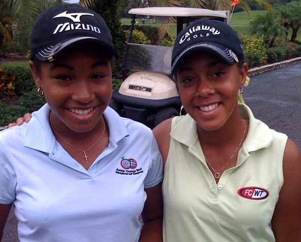 LA PLUS JEUNE PROFESSIONNELLE DU GOLF S'APPELLE GINGER HOWARD + sa soeur Robbi Howard