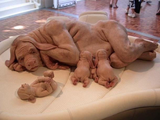 LE CHIEN-HUMAIN (sculpture)