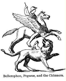 LE CHIEN-HUMAIN : mythologie grecque, moitié chien, moitié dragon, moitié chèvre