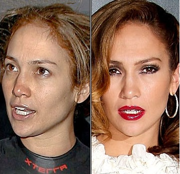 NOS CELEBRITES SANS MAQUILLAGE : Jennifer Lopez