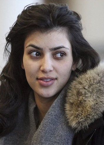 NOS CELEBRITES SANS MAQUILLAGE : Kim Kardashian