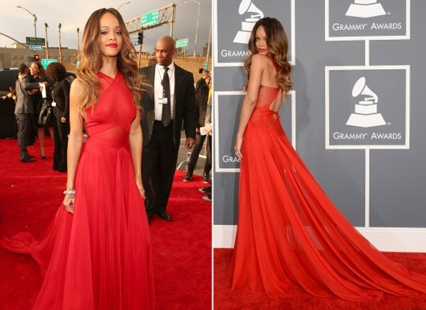 RIHANNA ET CHRIS BROWN AUX GRAMMY AWARDS 2013