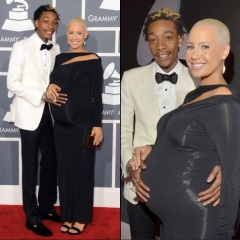 Grammy Awards 2013 : Amber rose et wiz khalifa