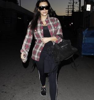 Kim kardashian à la gym
