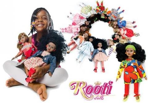 UNE POUPEE NOIRE QUI PARLE UN DIALECTE AFRICAIN : Rooti dolls