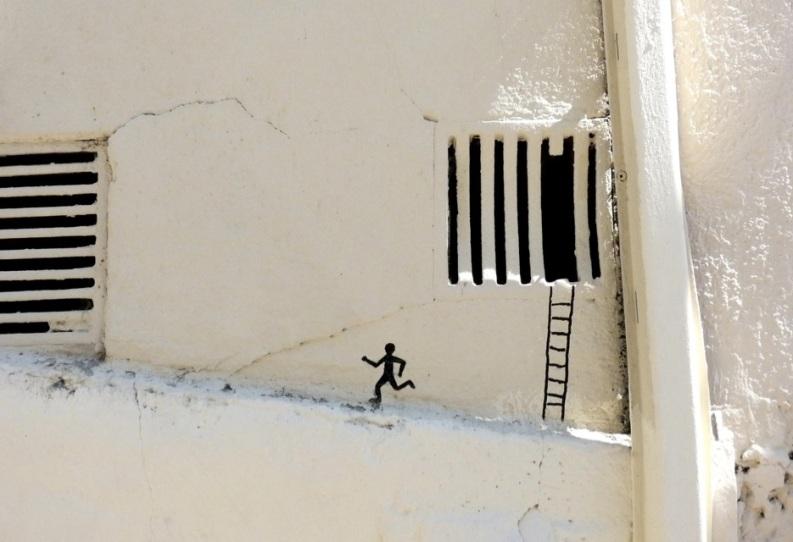 Le meilleur de l'art de rue - street art - art urbain (échappé de prison)