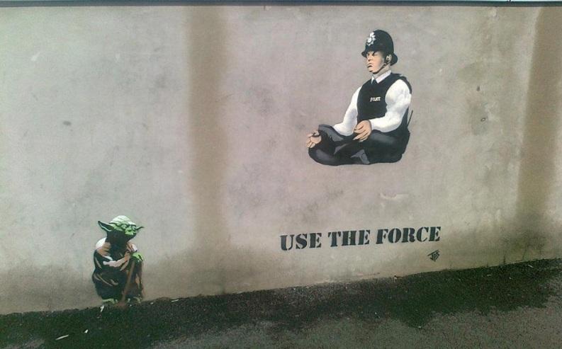 Le meilleur de l'art de rue - street art - art urbain (Yoda vs police)
