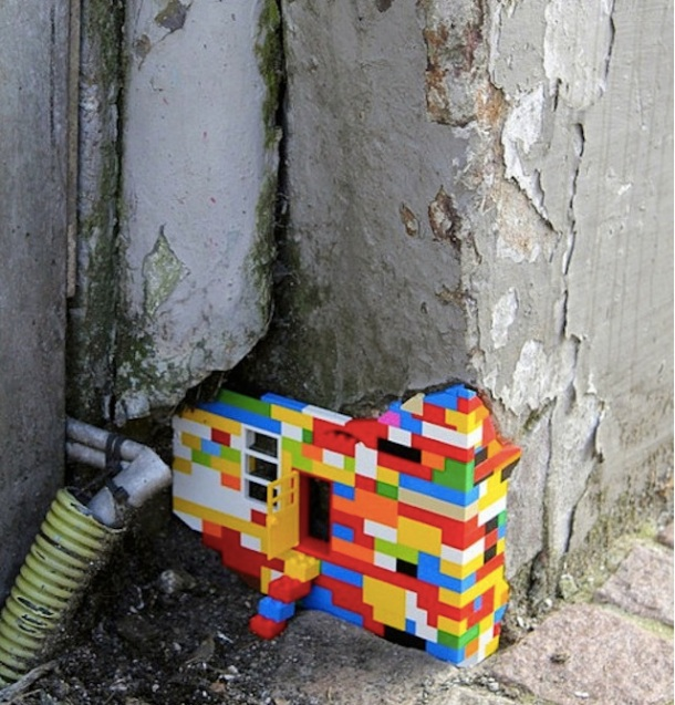 Le meilleur de l'art de rue - street art - art urbain (lego)