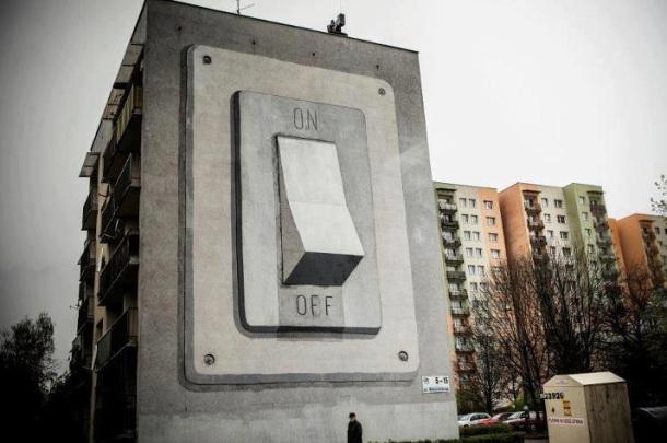 Le meilleur de l'art de rue - street art - art urbain (interrupteur)
