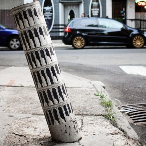 Le meilleur de l'art de rue - street art - art urbain (tour de Pise)