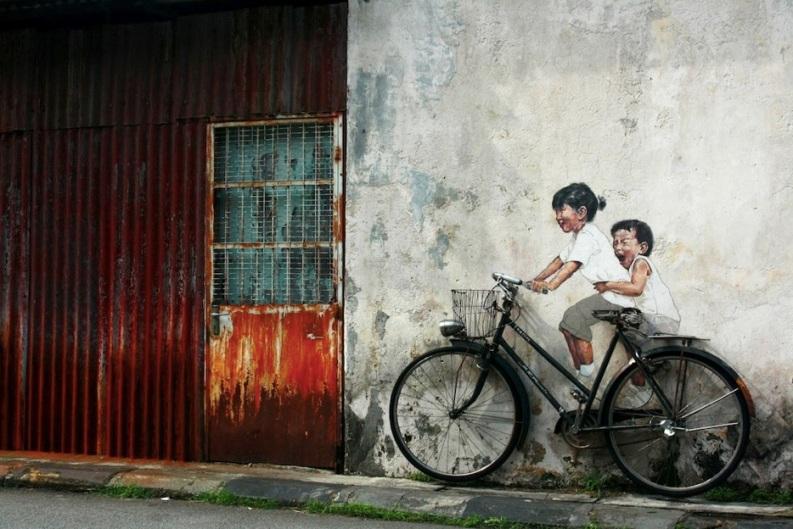 Le meilleur de l'art de rue - street art - art urbain (bicyclette)