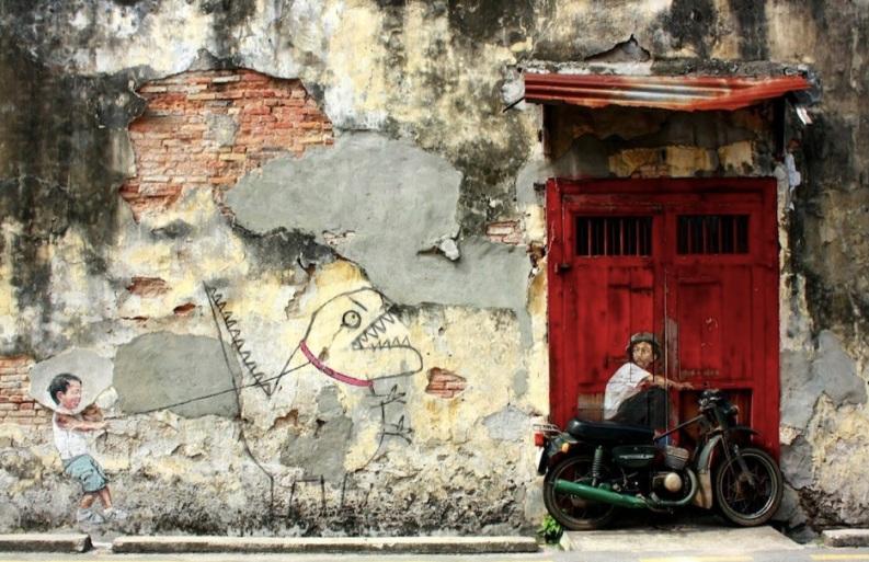 Le meilleur de l'art de rue - street art - art urbain (chien méchant)