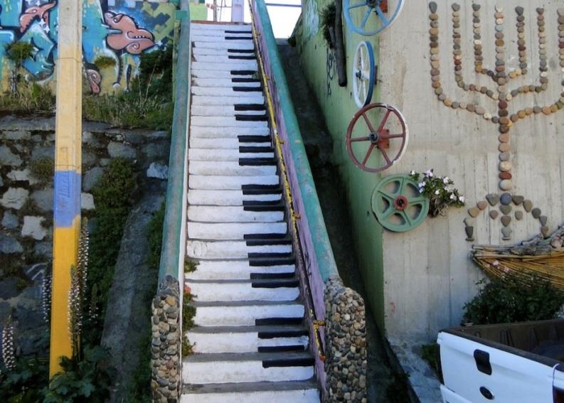 Le meilleur de l'art de rue - street art - art urbain (escaliers piano)