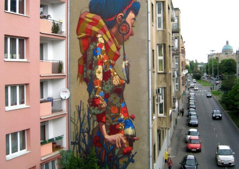 Le meilleur de l'art de rue - street art - art urbain (un géant sur un mur)