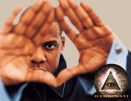 Jay-z faisant le signe illuminati