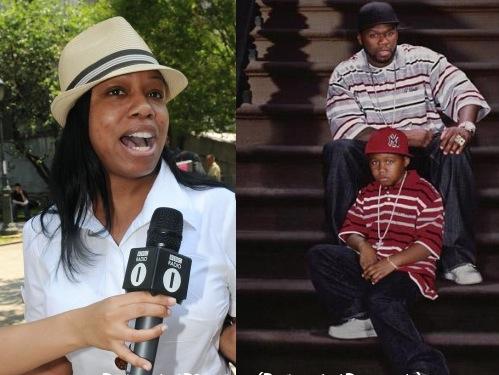 Shaniqua Tompkins, à gauche, est l'ex du chanteur 50 cent et la mère de son fils.