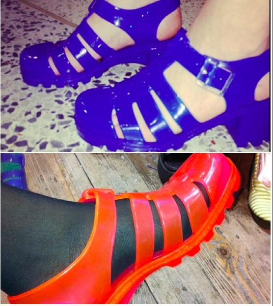 PETITE GUERRE ENTRE RITA ORA ET AZEALIA BANKS - jelly shoes - chaussures jelly