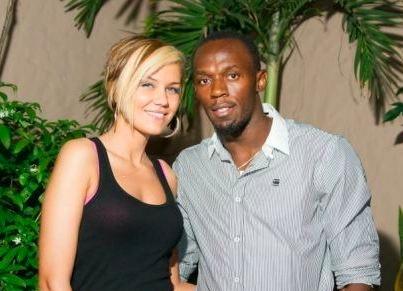 Usain Bolt et son ex copine Lubica Slovak.