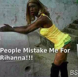 (TOF) LES GENS ME CONFONDENT AVEC RIHANNA - people mistake me for Rihanna