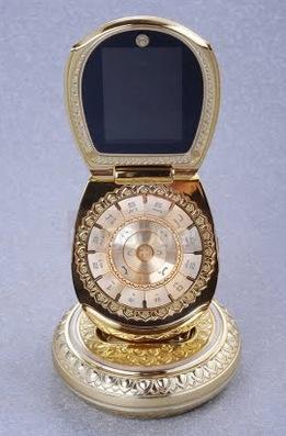 LE TELEPHONE PORTABLE GOLDEN BUDDHA - UN PORTABLE EN OR - golden buddha cellphone