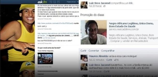 """UN """"NEGRO"""" MIS EN VENTE SUR INTERNET - Brésil"""