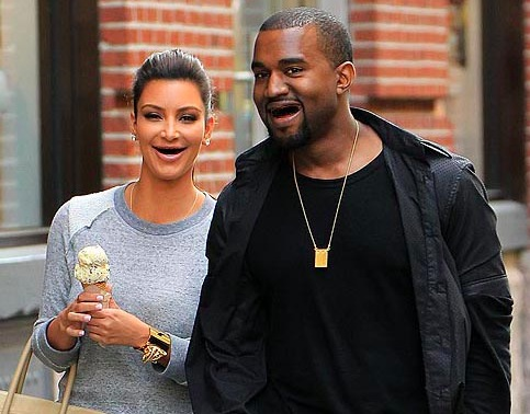 kim kardashian, kanye west without teeth - sans dents