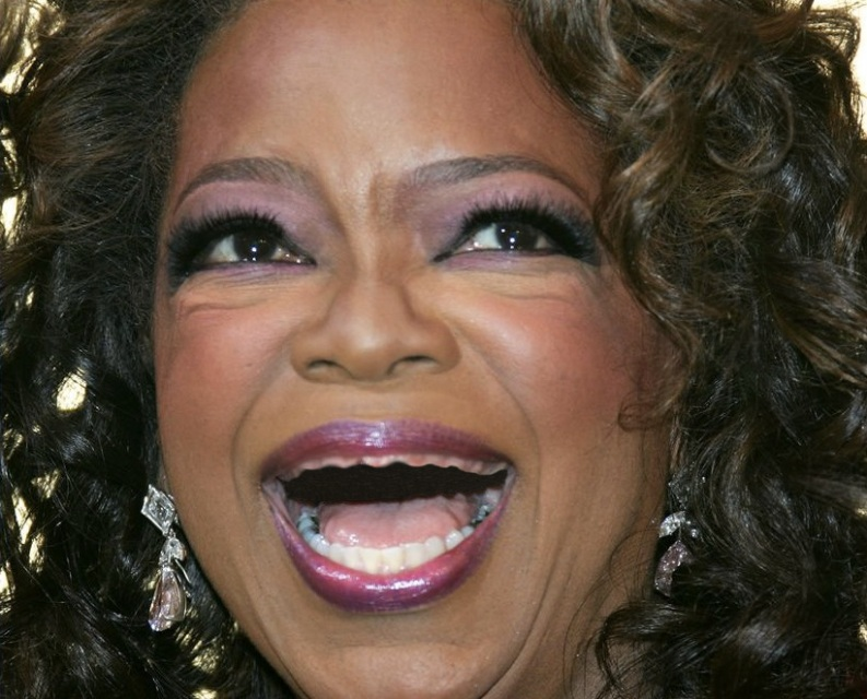 Oprah Wnfrey without teeth - sans dents