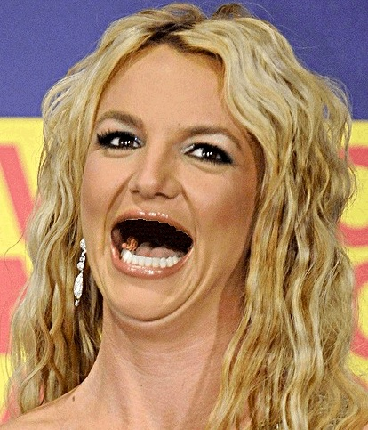 Britney spears without teeth - sans dents