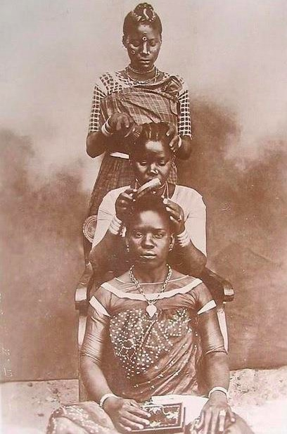 """PHOTO RETRO """"COTE D'IVOIRE"""" COTé COIFFURE (nappy - afro)"""