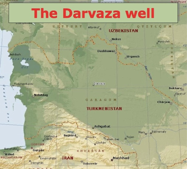 DARVAZA : UN VILLAGE QUI POSSEDE SA PORTE D'ENTREE AUX ENFERS - The darvaza well