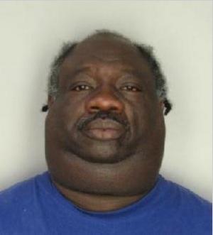 Noir obèse avec uen tête de hamburger