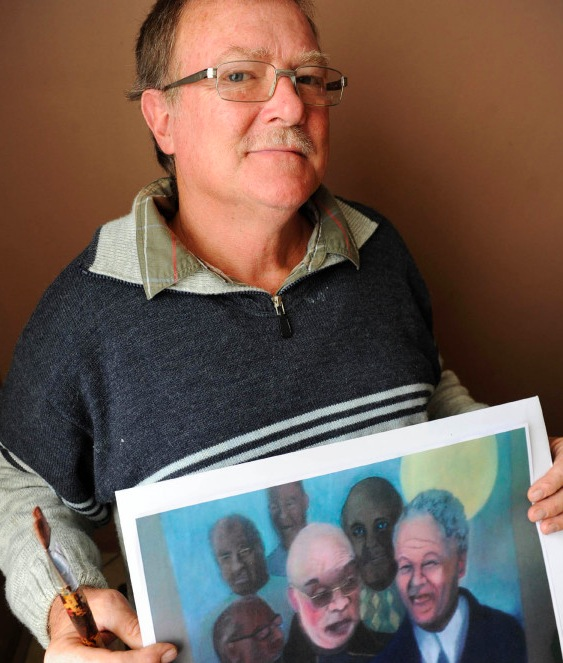 (Simunye) KOBUS MYBURGH : SA PEINTURE DE NELSON MANDELA 'BLANC' CAUSE L'INCOMPREHENSION