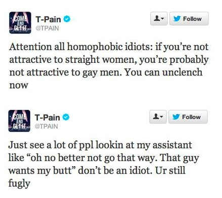 T-PAIN CONTRE LES HOMOPHOBES DEFEND SON ASSISTANT HOMOSEXUEL
