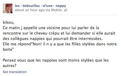 LES NAPPY N'ONT PAS DE STYLE - Rencontre nappy au Cameroun 2013 - Les bidouilles d'une nappy