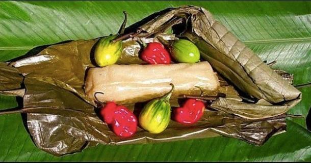 Kwanga : plat traditionnel du bassin du fleuve Congo.