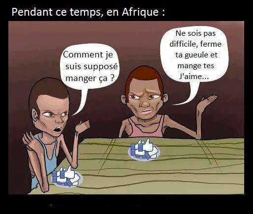 En Afrioque on mange les 'like' de Facebook ?