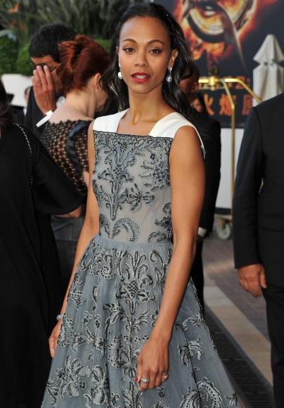ZOE SALDANA : LES GENS DE COULEUR N'EXISTENT PAS (Robe Valentino - Cannes 2013)