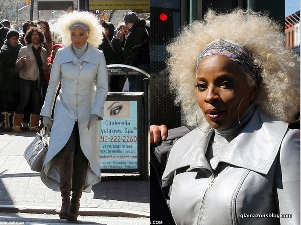 MARY J BLIGE : SA DETTE DE PRESQUE 4 MILLIONS DE DOLLARS A L'ETAT (picture with afro natural hair wig)
