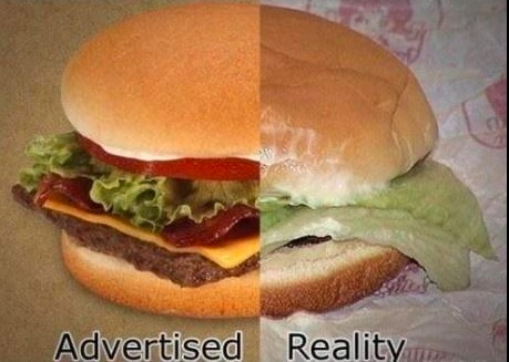 Publicités de hamburgers
