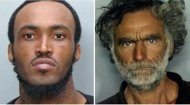 Rudy Eugène, 31 ans(à gauche), Ronald Poppo, 65 ans (à droite).