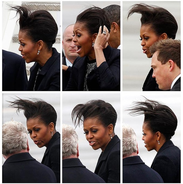 Michelle Obama bad hair day - quand les cheveux causent problème