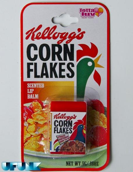 DU GLOSS AU GOUT DE CEREALES KELLOGG'S ET NESTLé (lip balm) - corn flakes maquillage
