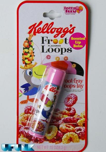 DU GLOSS AU GOUT DE CEREALES KELLOGG'S ET NESTLé (lip balm) - fruit loops