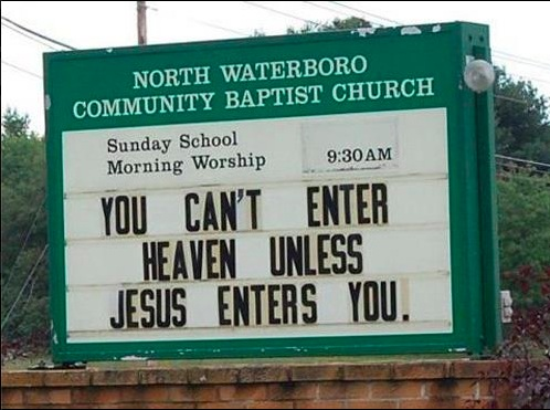 Jésus doit entrer en vous (humour)