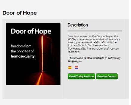 L'application pour mobile annonce : 'Comment se libérer de l'homosexualité ?'