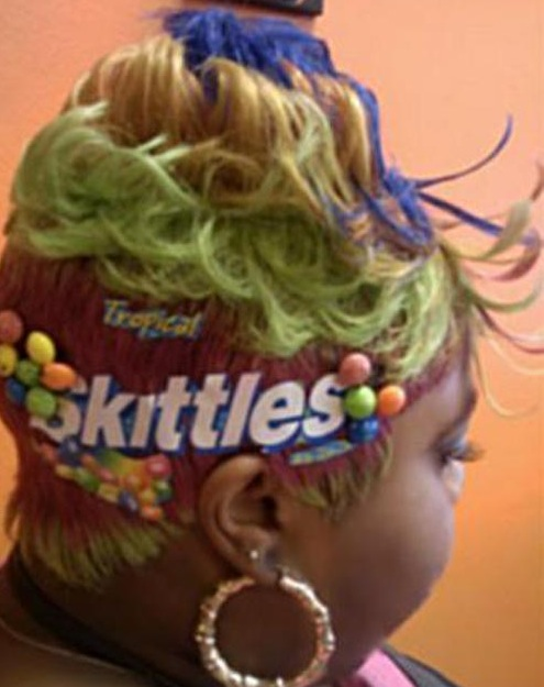 Perruque (lace wig) skittles